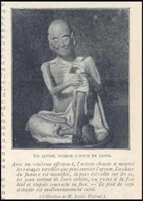 Peinture : Lettré fumeur d'Opium en chine