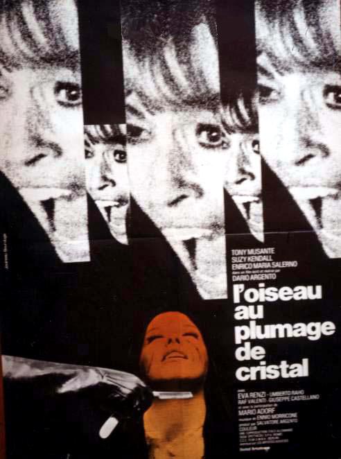 L'OISEAU AU PLUMAGE DE CRISTAL,, L'Uccello dalle piume di cristallo, affiche grand format : 120 cm x 160 cm,du premier film réalisé par Dario Argento d'après le livre de Fredric BROWN  en 1971,c' le premier film de sa trilogie animale, en vente  sur www.wanted-rare-books.com/l-oiseau-au-plumage-de-cristal-affiche-originale-cinema-dario-argento-grand-format-120x160.htm et sur www.wanted-rare-books.com/cinema.htm et sur www.wanted-rare-books.com