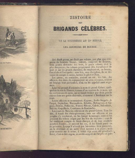 Les coupeurs de bourse, du livre: Histoire dramatique des brigands célèbres,B. Renault Edition 1845,livre en vente sur www.wanted-rare-books.com/histoire-dramatique-des-brigands-celebres-sur-mer-et-sur-terre.htm