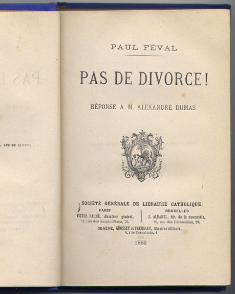 divorce paul feval