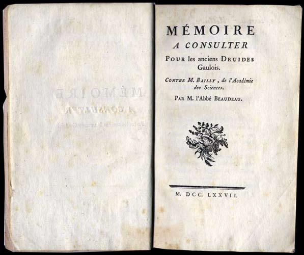 wanted rare books defense memoire anciens druides