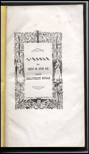 Ecole Vertus jeune age ,Nouvelle Bibliothèque Morale