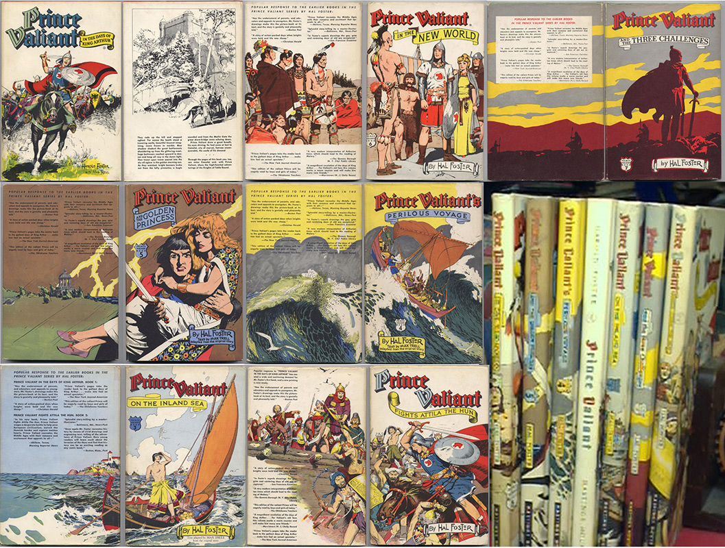 Prince Valiant , HAL FOSTER , Hastings House Publishers, New-York, 7 volumes