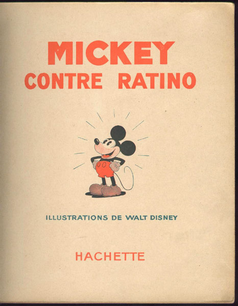 couverture livre mickey