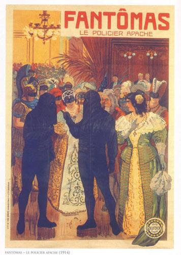 Reproduction de l'affiche du film Fantomas Le Policier Apache