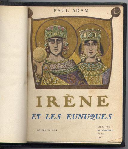Couverture originale de Irène et les eunuques de Paul Adam