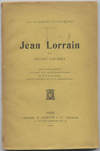 Jean Lorrain par Ernest Gaubert
