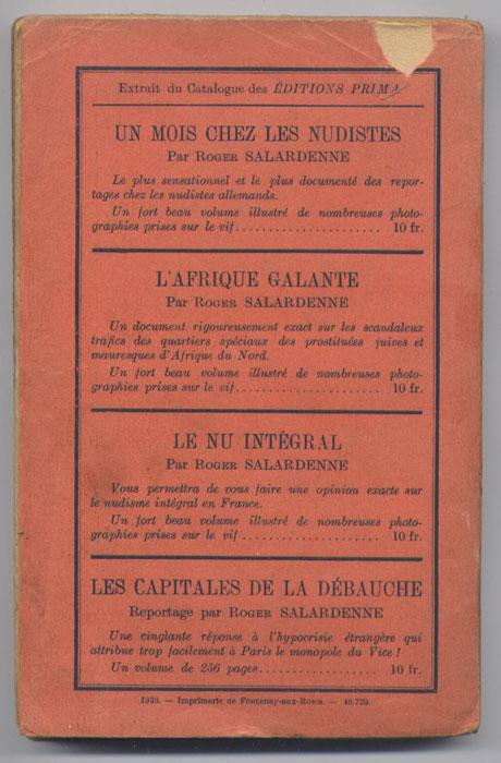 Petit manque sur le haut de la 4 eme de couverture - wanted-rare-books - Librairie on-line - Marseille
