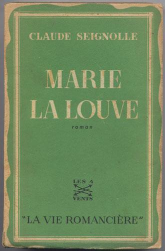 Marie la louve, Claude Seignolle en vente sur www.wanted-rare-books.com/louve.htm