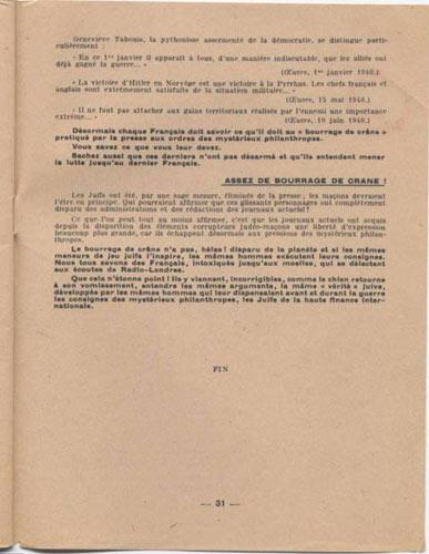 page 31 et fin  de : Le Bourrage de Crane