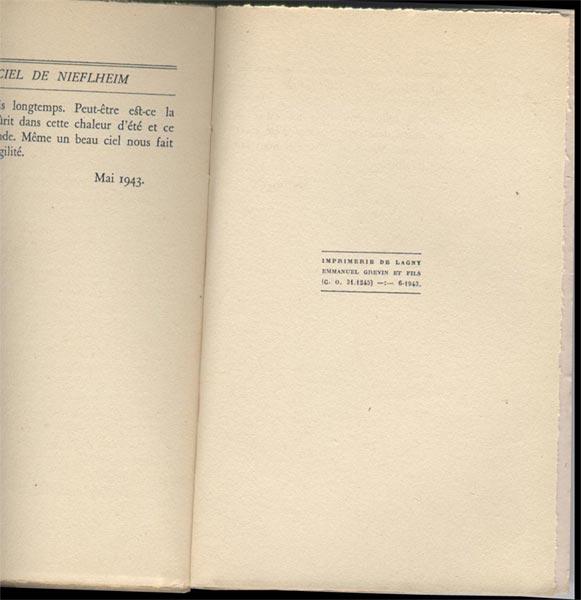 Livre ouvert:Le Ciel de Nieflheim