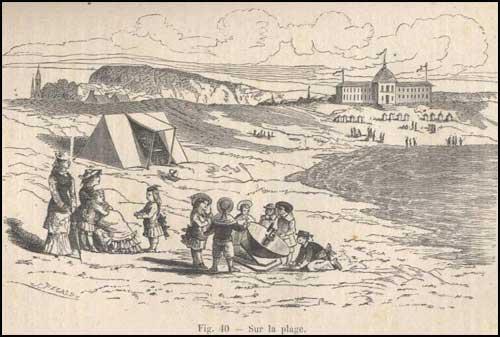 Louis de Royaumont conquete du soleil sur la plage