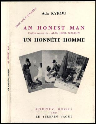 Dos et recto de la jaquette du livre : Un Honnête Homme