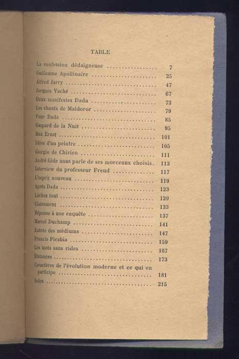 Auteur: André Breton, titre: les pas perdus, Editeur: Gallimard, Paris 1924,NRF,collection Les Documents Bleus, EO en TBE, livre en vente sur www.wanted-rare-books.com/andre-breton-les-pas-perdus.htm