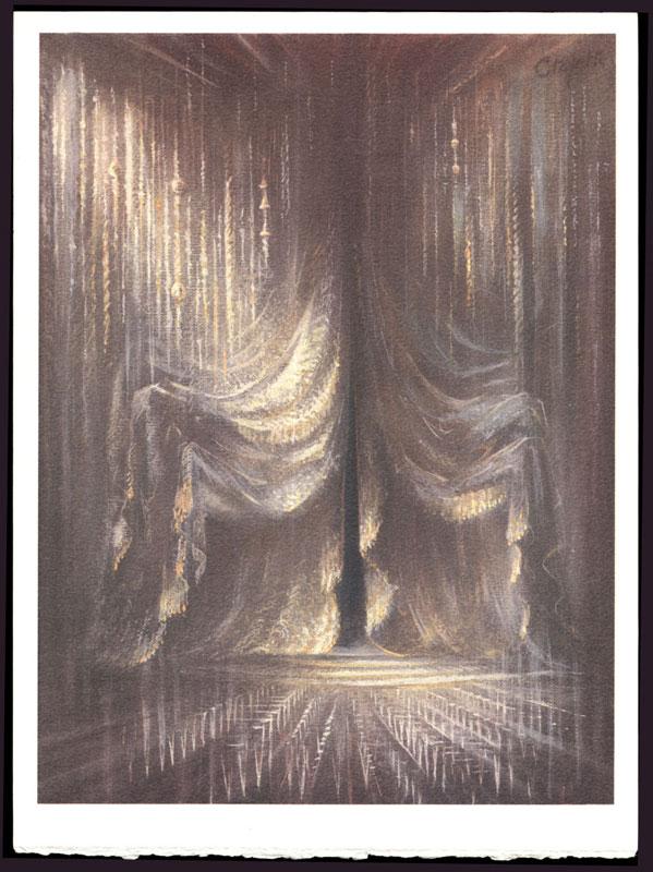 Une des 5 compositions originales de Pierre Clayette pour illustrer  Songes de pierres  titrée Béryl Blanc