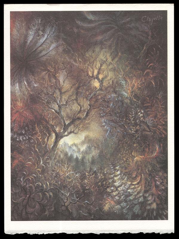 Une des 5 compositions originales de Pierre Clayette pour illustrer Songes de pierres , titrée Dendrites