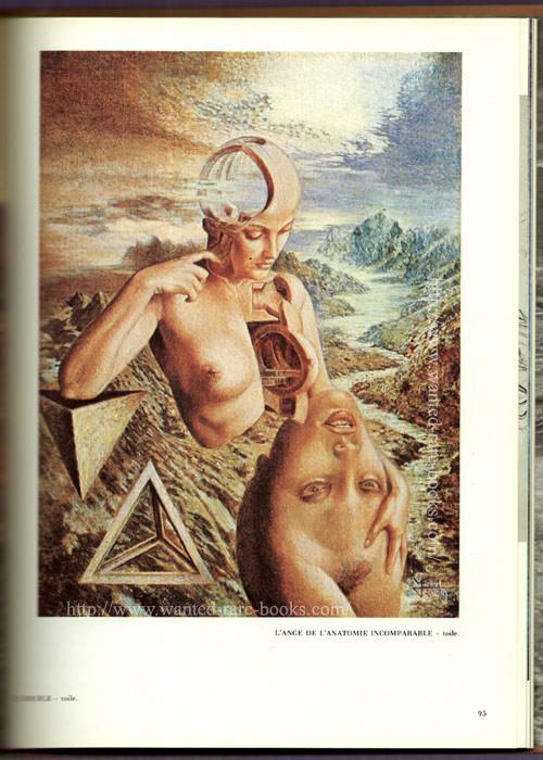 Sujet ésotérique d'expression surréaliste de Michel desimon : Ange de l'anatomie incomparable