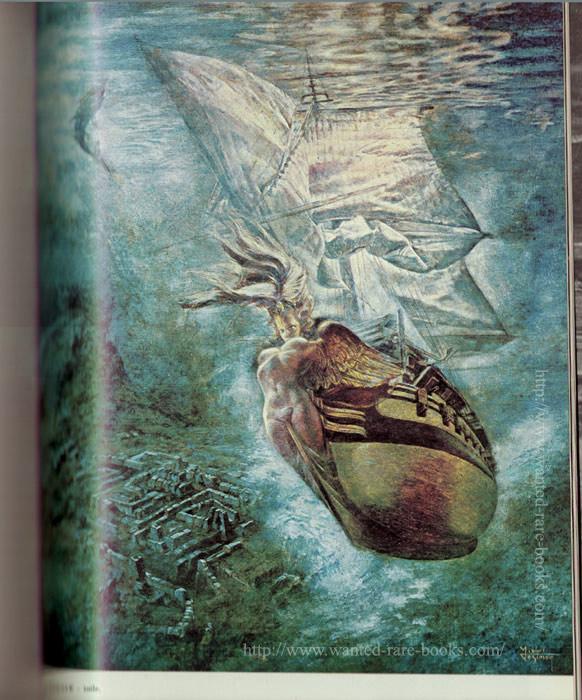 sirène échevelée, les ailes ouvertes et figée dans sa fonction d'étrave irrésistible sur le vaisseau de la Nature