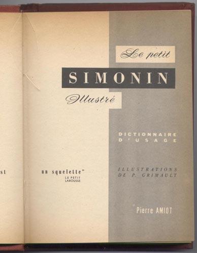 Page de titre illustrée de : Le Petit Simonin Illustré