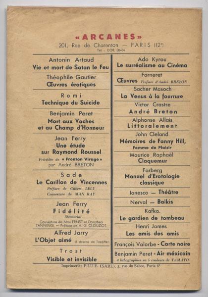 Bizarre N°1 ( 1ère série ) Gaston Leroux, Hommage à Gaston LEROUX, Ed. Eric Losfeld 1953 E.O., livre en vente sur www.wanted-rare-books.com/revue-bizarre-n1-premiere-serie-gaston-leroux.htm