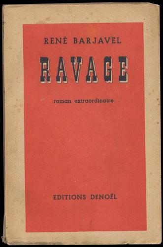 Plat couverture : Ravage de René Barjavel