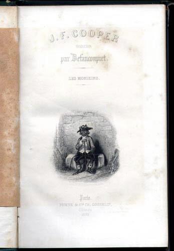 Vignette de : Les Monikins de James Cooper Fenimore,FURNE et compagnie Charles Gosselin Editeurs ,   numéro 14, 1839